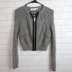 Anthro Sparrow Chunky Knit Cropped Sweater D98